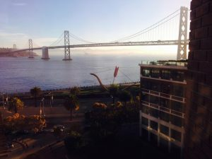 View from the main floor of Verizon's Innovation Center in San Francisco.